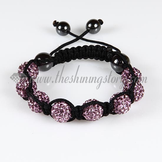 Macrame disco ball pave beads bracelets jewelry armband