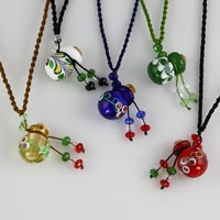 Murano glass perfume necklaces