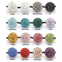 Glitter ball macrame bracelets making supplies