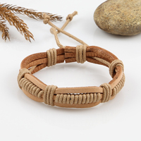 Woven leather bracelet