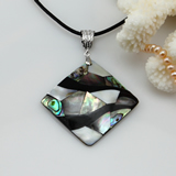 Mother of pearl shell necklace pendants