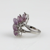 Semi precious stone finger ring