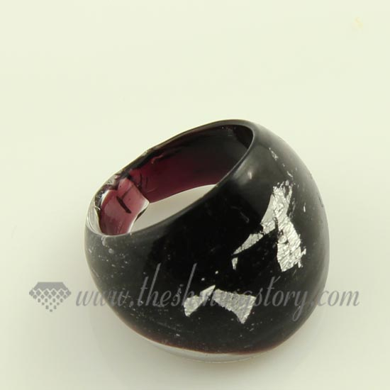 foil lwork murano glass finger rings jewelry wholesale