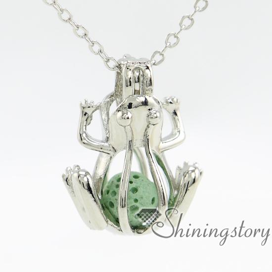 Frog Engraved Locket Large Silver Locket Men Lockets