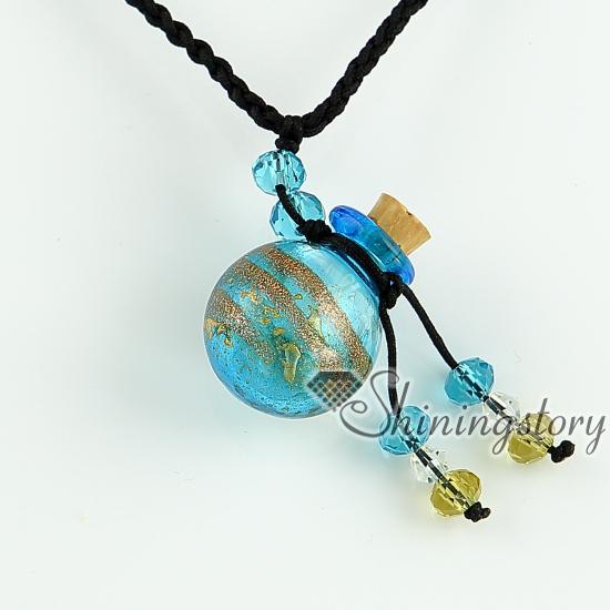 glitter essential oil diffuser necklaces small wish bottle