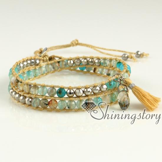 leather wrap bracelet womens bracelets wrap bead