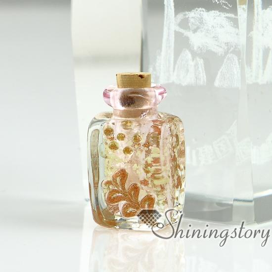 Small Glass Bottles Pendant Necklacessmall Decorative Glass Bottleshandblown