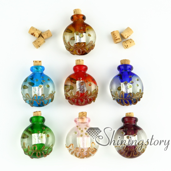small glass vials for necklacesminiature blown glass