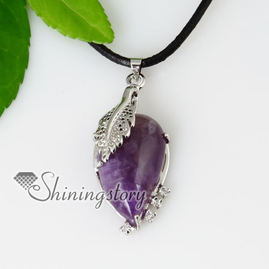 amethyst stone necklace - photo #9