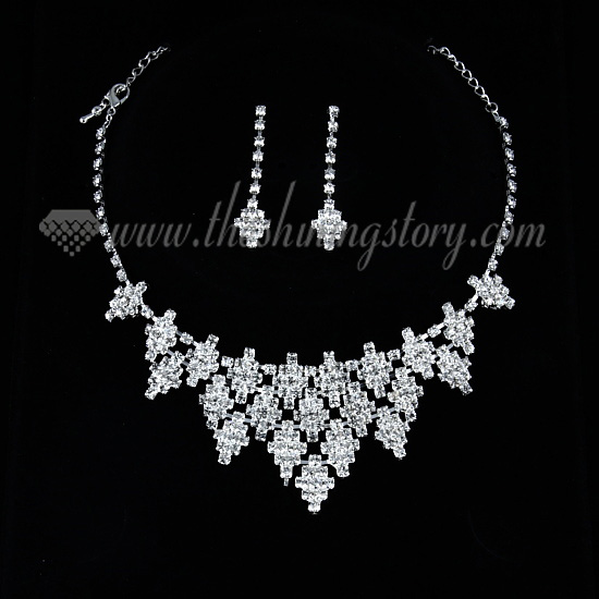 wedding bridal prom rhinestone chandelier necklaces and