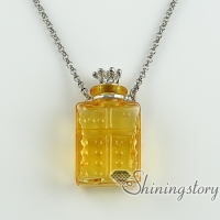vintage perfume bottle pendant necklace with chain