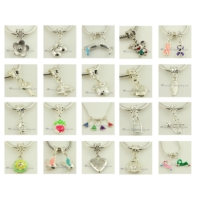 200pc silver dangle european big hole charms fit for bracelets