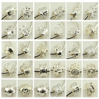 500pc silver plated european large hole charms fit for bracelets