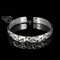 925 sterling silver filled brass flower bangles cuff bracelets