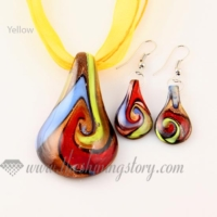 wholesale leather bracelets, murano glass beads and necklace, 925 sterling silver earrings - shiningstory from theshiningstory.com