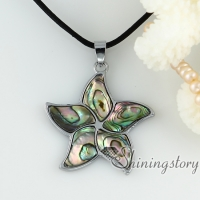 abalone oyster sea shell necklaces rainbow white pink yellow flower pendants mop jewellery