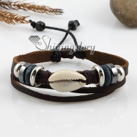 adjustable alloy genuine leather bracelets for man and women