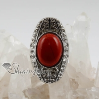 boat shaped semi precious stone natural agate finger rings