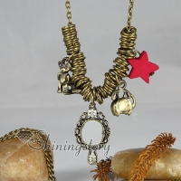 cosmetic mirror antique long chain pendants necklaces