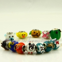 european animal murano glass beads for fit charms bracelets