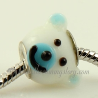 european bear murano glass beads for fit charms bracelets