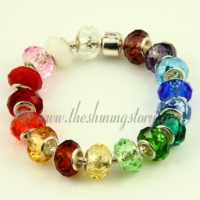 european crystal big hole beads for fit charms bracelets