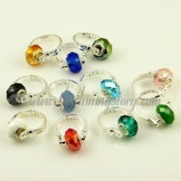european crystal large hole beads finger rings jewelry