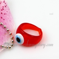 evil eye lampwork murano glass finger rings jewelry