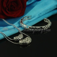 filigree necklaces and bangles bracelets jewelry sets