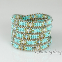 five layer beaded wrap bracelets fashion handmade braceletsjewelry