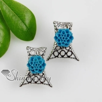 flower openwork plastic cement earrings stud ear pins jewelry