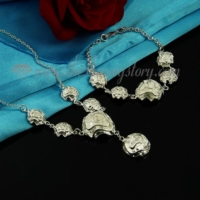 flower rose necklaces and bracelets jewelry sets