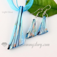 foil venetian murano glass pendants and earrings jewelry