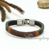 genuine leather bracelets wired bracelets handcrafted handmade jewelry mix color lot