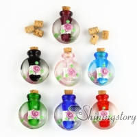 glass vial pendant for necklace pet urns jewelry ashes memorial jewelry for ashes
