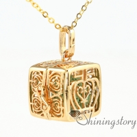 gold heart locket women's locket necklace kids locket necklace essential oil charms