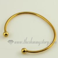 gold plated bangles bracelets fit for large hole charms beads