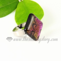 handmade dichroic glass finger rings jewelry