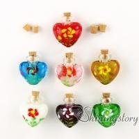 heart perfume bottle handmade murano glassglass vial pendantmemorial urn jewelrycremation ashes jewelry lampwork glass memorial urn jewelry