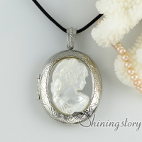 lady'shead sea turtle cameo photo locket pendants oyster sea shell oyster mop jewellery