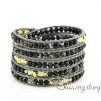 leather wrap bracelet womens bracelets five layer wrap leather bracelet beaded jewelry bracelets men jewelry bracelet