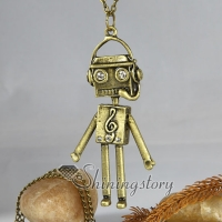 lovely android brass antique long chain pendants necklaces