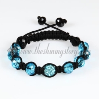 macrame disco ball pave beads crystal bracelets jewelry armband
