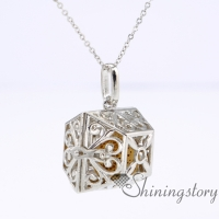openwork diffuser necklace aromatherapy lockets wholesale perfume locket aromatherapy pendants