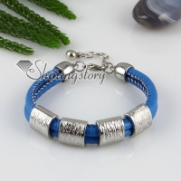 pu charm wristbands multi layer buckle bracelets unisex