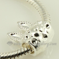 rabbit silver plated european charms fit for bracelets