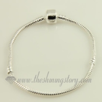 silver plated european bracelets fit for big hole charms beads