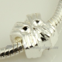 silver plated european large hole charms fit for bracelets