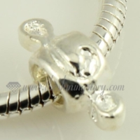 silver plated european beads charms fit for bracelets