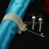 tassel bracelets and dangle earrings jewelry sets
